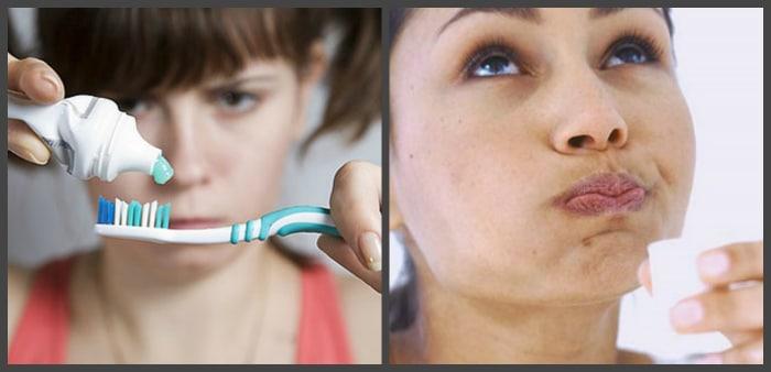 Очищение и полоскание зубов