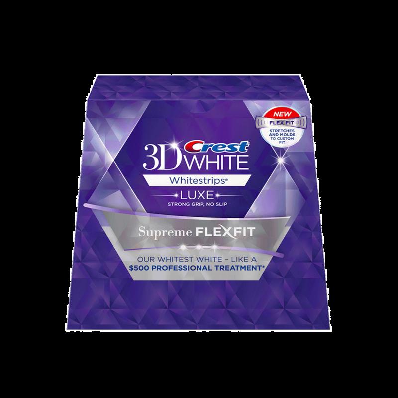 Crest 3D White Luxe Whitestrips Supreme Flexfit
