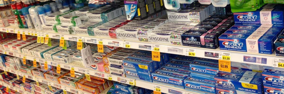 Ассортимент зубных паст