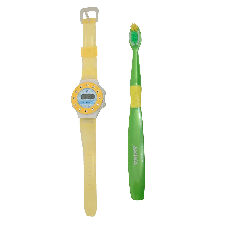 Часы и зубная щетка
