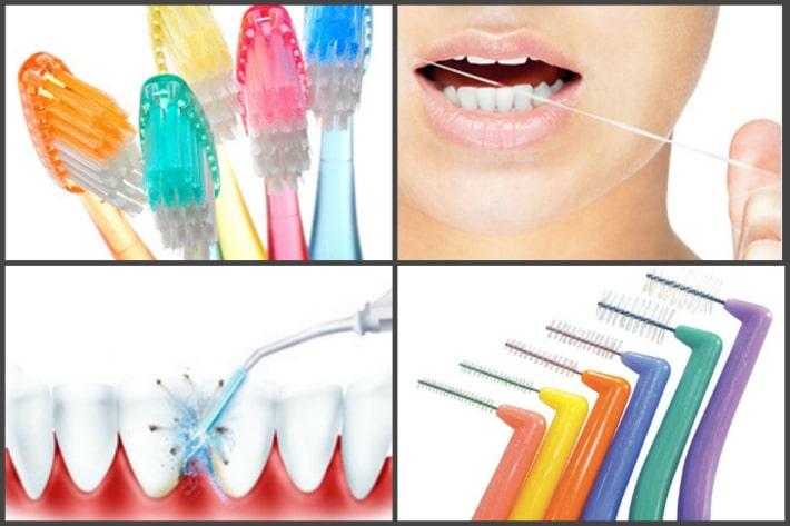 Приспособления для чистки зубов