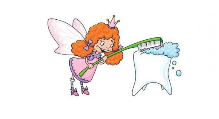 Зубная фея забирает выпавшие зубки