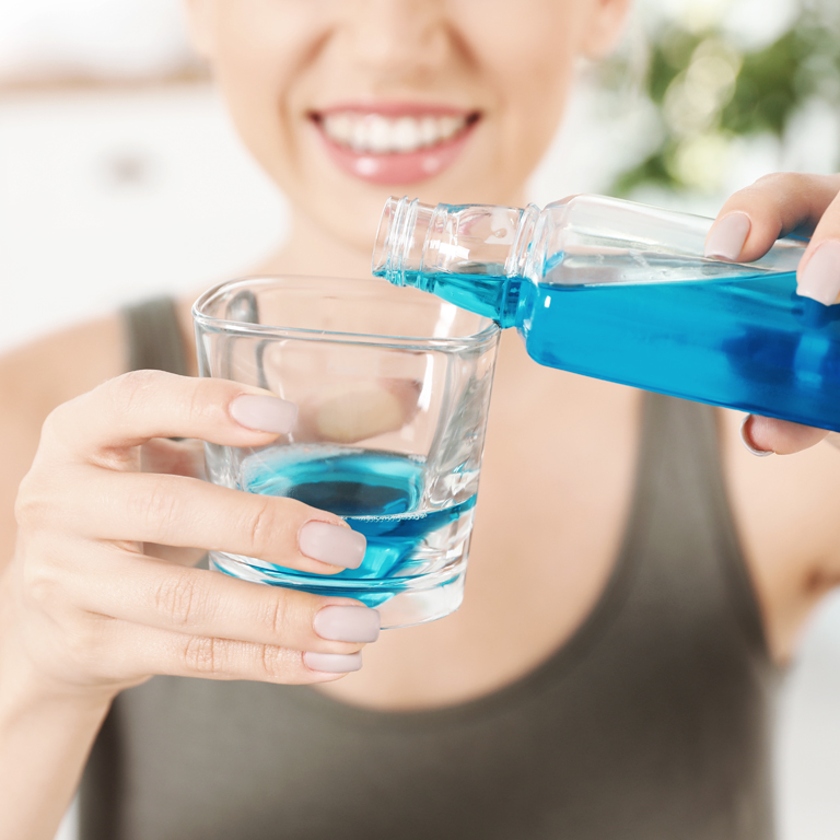 Голубая жидкость