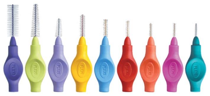 Ершики для очищения зубов.