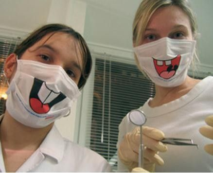 Оригинальные медицинские маски для стоматологов
