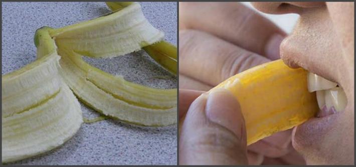 Рекомендации при отбеливании банановой кожурой