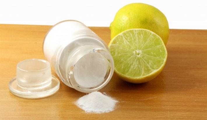 Отбеливание содой и лимоном