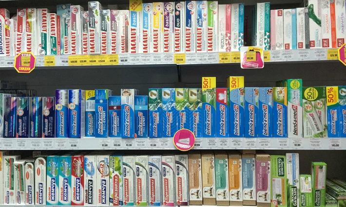 Разнообразие зубных паст