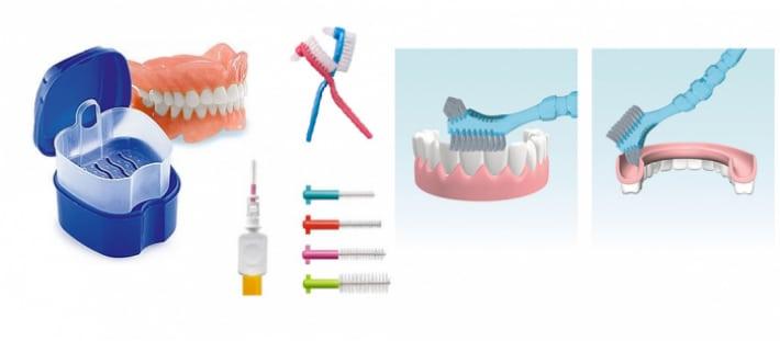 Съемные протезы и дополнительная гигиена зубов