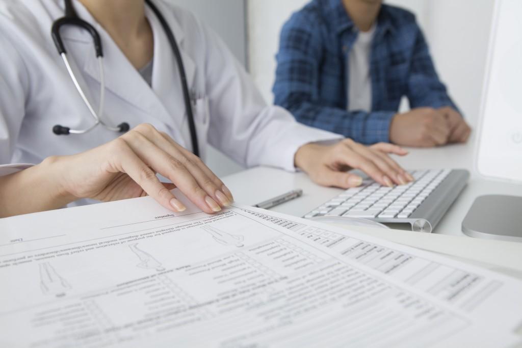 Заполнение медицинской карты