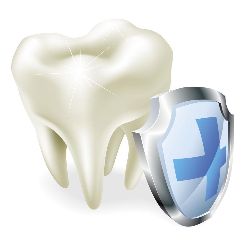 Зуб со щитом