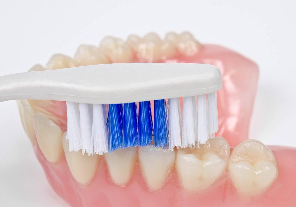 Зубная щетка и протез