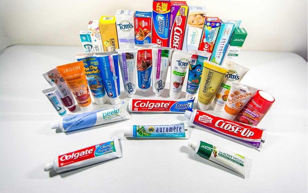Пасты для чистки зубов